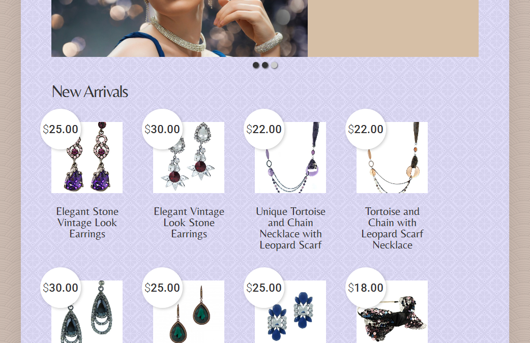 Responsive E-Commerce Site for Startup Online Jewelry Business  Copy