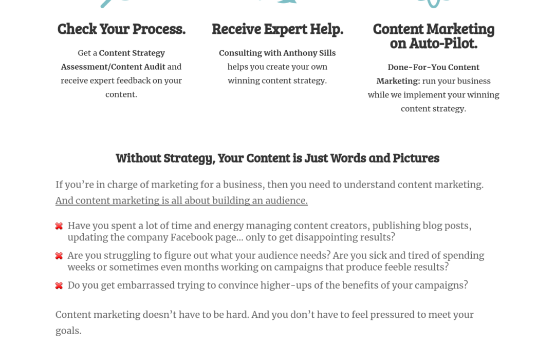 Freelance Copywriter's Website  Copy