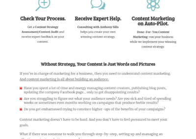 Freelance Copywriter's Website
